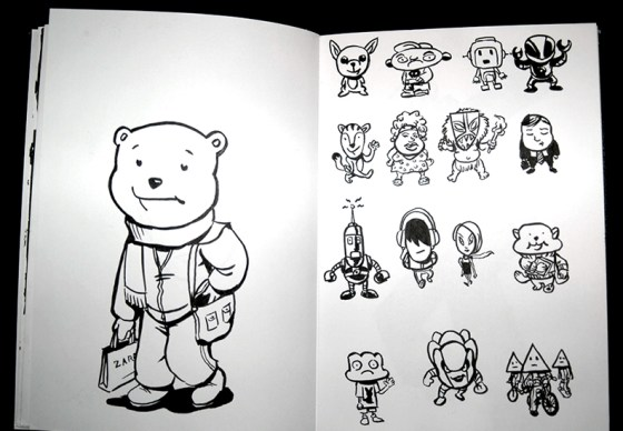 Character design exercice with geometric shapes