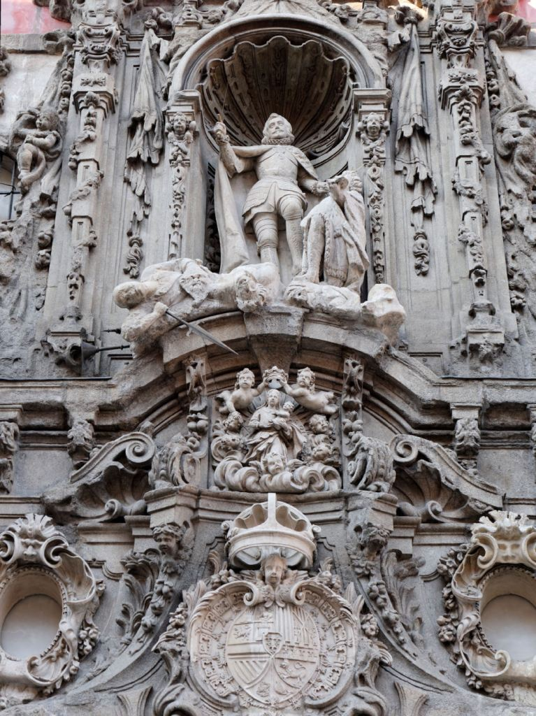 Fachada barroca de estilo churrigueresco del Museo de Historia de Madrid. Obra del arquitecto Pedro de Ribera Fotografía de Luis F. Roncero.
