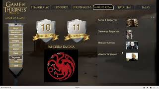 Painel do Power Bi Show – Game of  Thrones