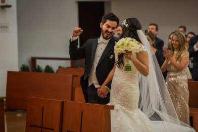 Groom and Bride Wedding Ceremony by Luis Ibarra Wedding Photographer in Mexico