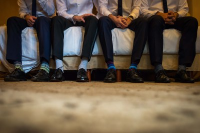 Groomsmen Getting Ready by Luis Ibarra Wedding Photographer in Mexico