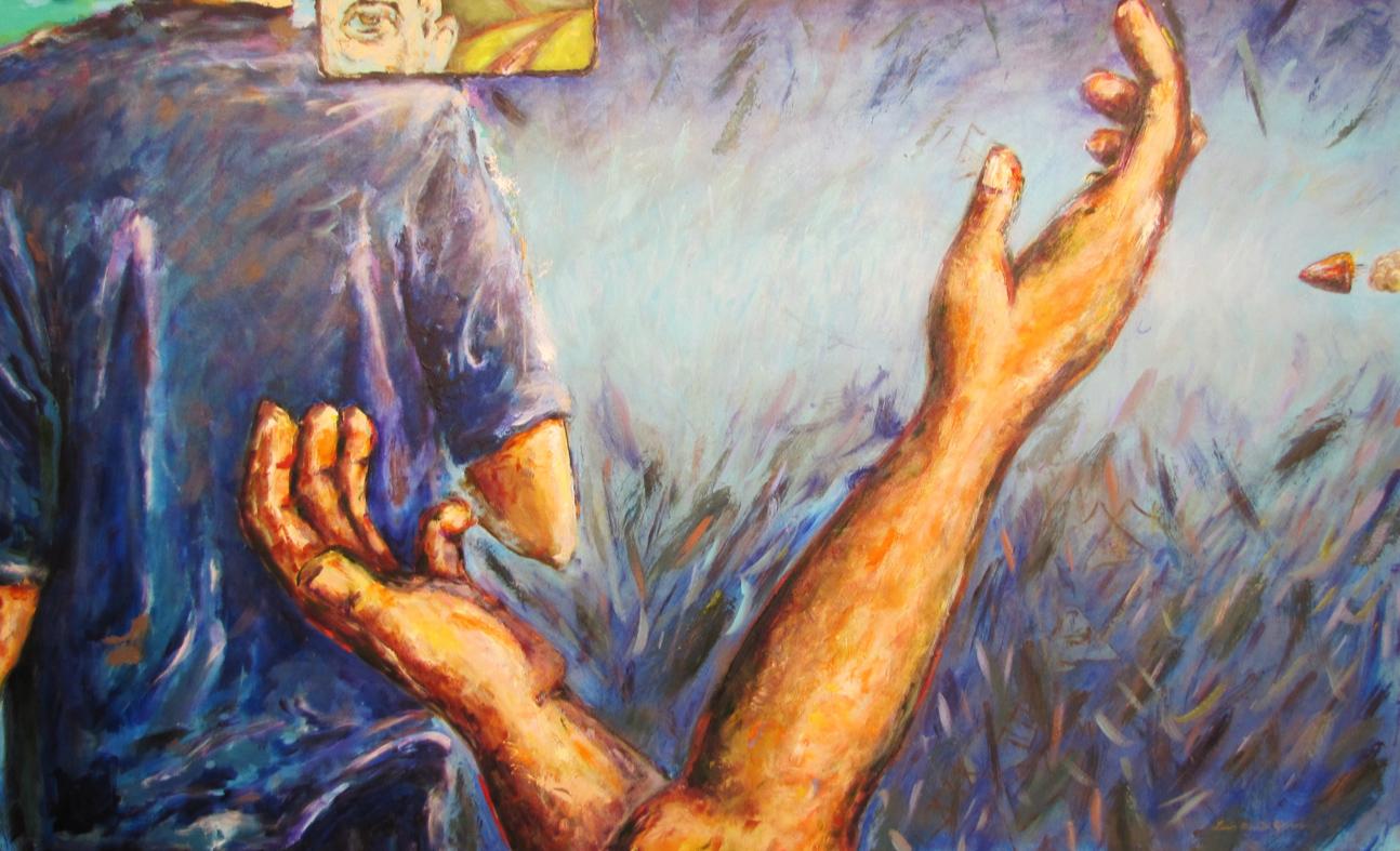 """La danza de la muerte, 2010, 60"""" X 36""""."""