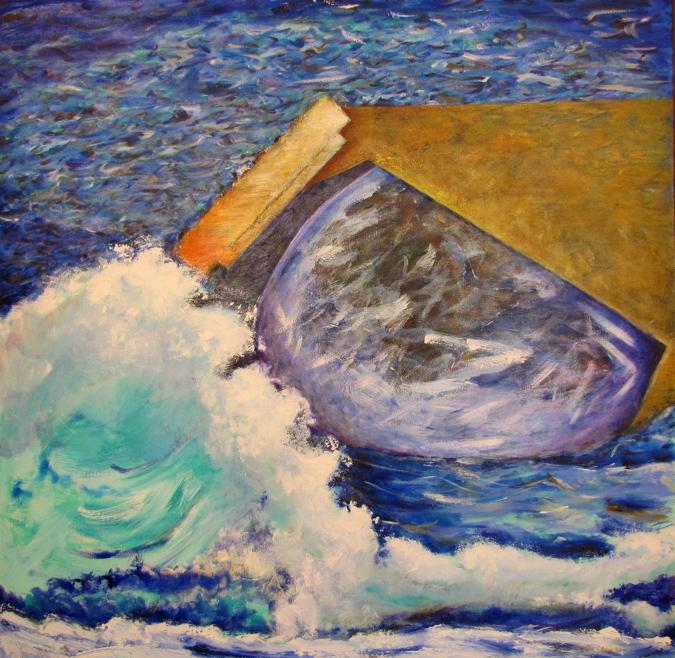 """El Arca [The Ark]. 2011, Acrílico sobre canvas, 48"""" X 48"""""""