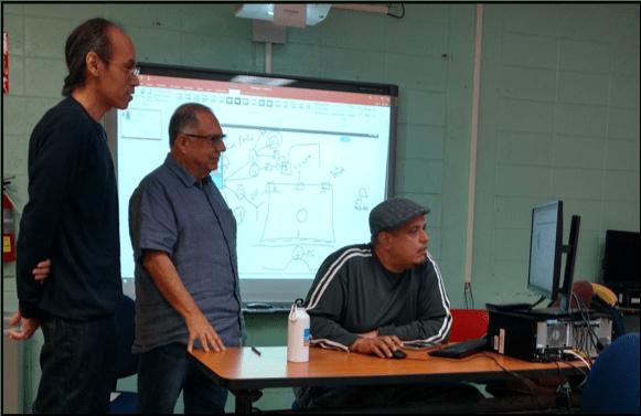 Fotografía: Juan Luis Martínez-Guzmán, Dr. Joseph Carroll Miranda, y Luis M de Jesús Berríos
