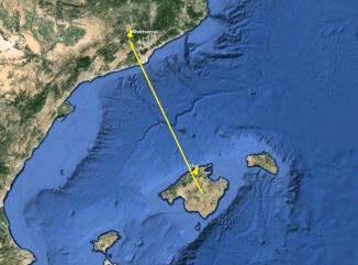 Si unimos Sant Joan con Montserrat la linea llega hasta Montserrat en Barcelona
