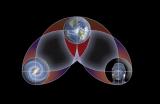 Tres cubos = tres mundos: Humanos, planeta y Universo