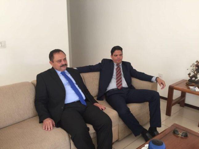 Luciano Genésio em encontro com Waldir Maranhão em Brasília