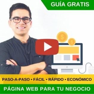 crear pagina web para negocio