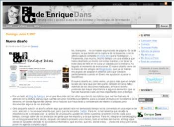 Nuevo diseño del blog de Enrique Dans por Blogestudio