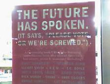 The Future has spoken. IT says we're screwup. Foto de Kevin Fox http://flickr.com/people/person/
