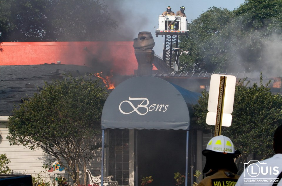Ben's Family Restaurant Fire