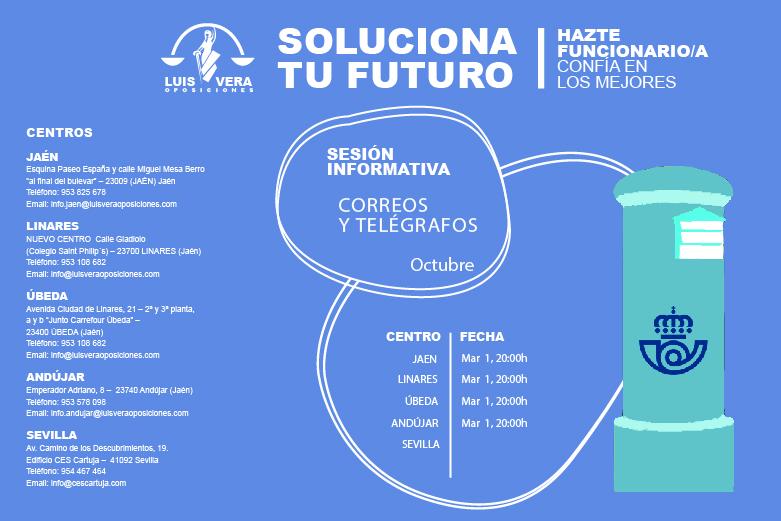 OPOSICIONES CORREOS Y TELÉGRAFOS – Sesión informativa próximo día 1 de Octubre a las 20:00 horas.