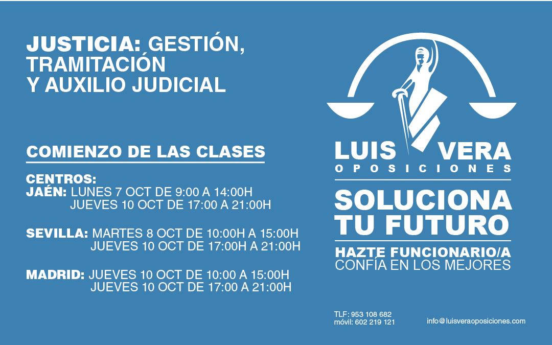 COMENZAMOS GRUPO JUSTICIA.- LUNES 7 (Jáen), MARTES 8 (Sevilla) y JUEVES 10 (Madrid)