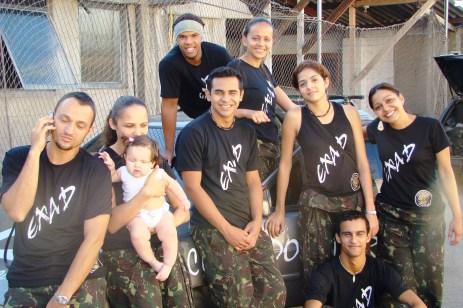 Rafael, Lili, Phelipe, Jonis, Adriana, Carlinha, Filipe e Giza