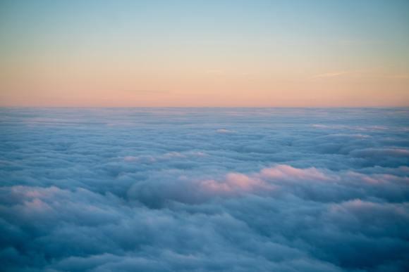 foto de nuvens vistas de cima