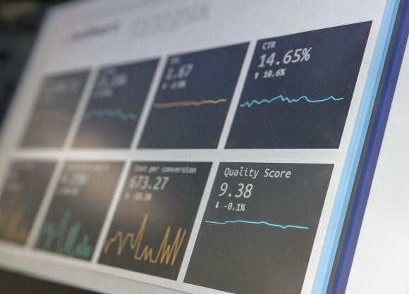 Dashboard de resultados genérico. Foto que apenas ilustra que estamos falando de dados.