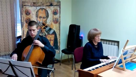 Выступление Михаила Безчастнова (виолончель) и Татьяны Почепа