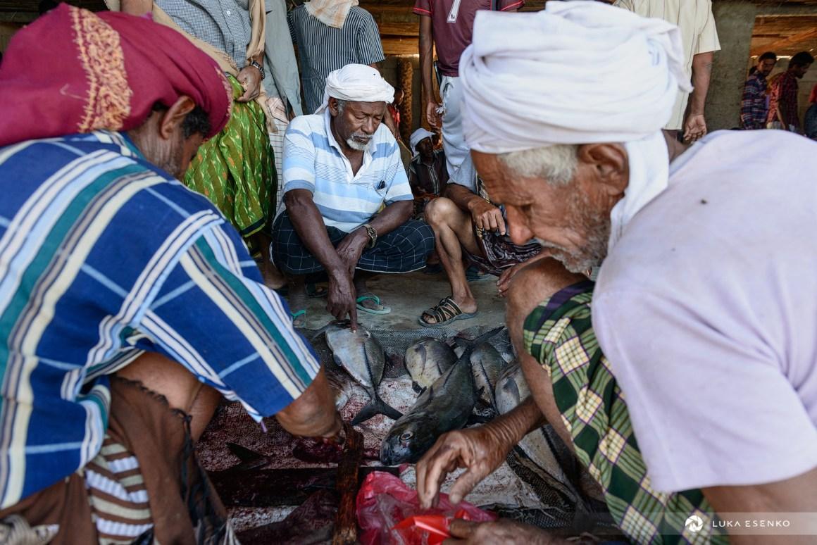 Fish market at Hadiboh, Socotra island