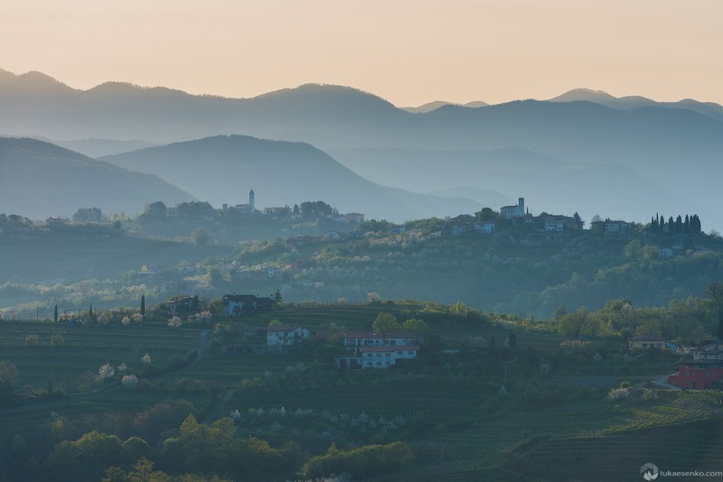 Views to Cerovo village and San Floriano