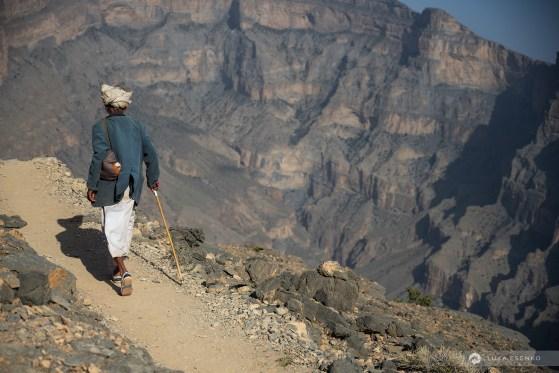 Old Omani goat shepherd at Al Khitaym