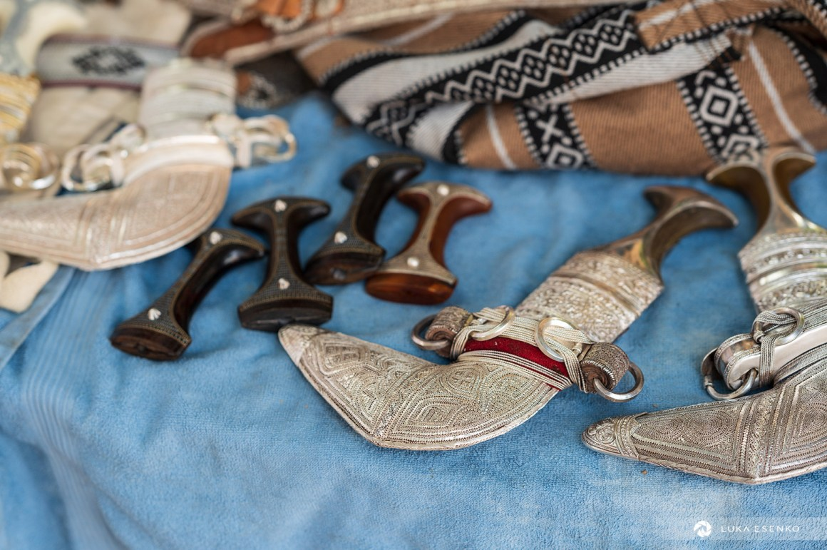 Khandjar knives at Nizwa souq