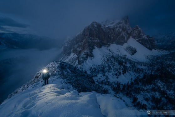 Winter hiking in Slovenia