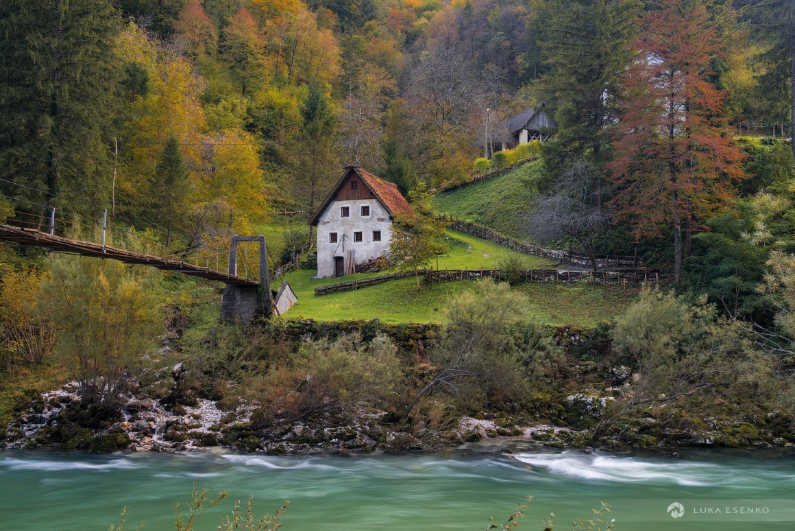 Old watermill on Idrijca river