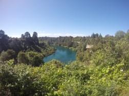 Der Huka Falls Track ist eine kleine Wanderung welche direkt zu den Wasserfällen führt! Lohnt sich!