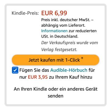 Bei vielen Büchern gibt es beim Kauf des eBooks eine Vergünstigung für das Hörbuch
