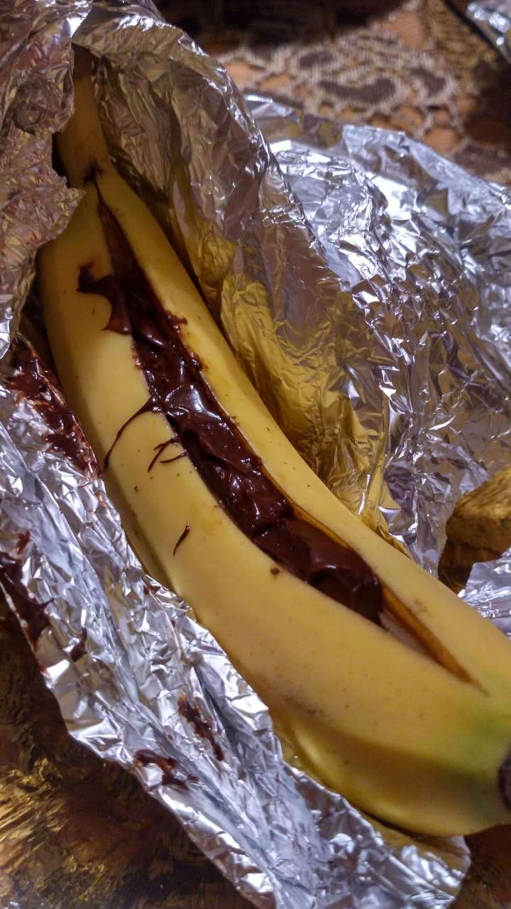 Czekoladowy banan z grilla