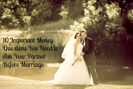 money questions before marriage