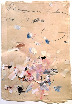 Cy Twombly Bassano in Teverina, 1976 (plate 42) Graphite, colored pencil, collage, and glue on paper 32 1/2 x 22 1/2 in. (82.5 x 57 cm) Private collection © Cy Twombly Photo courtesy of Gagosian Gallery