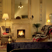 Sitting room in the suite at the Balmoral in Edinburgh