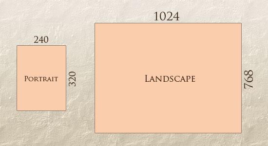 Responsive Design portrait-landscape