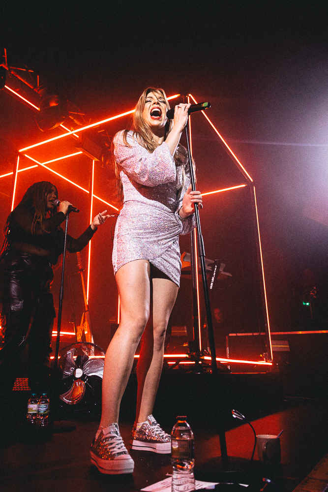 Becky Hill performs at Rock City on October 07, 2021 in Nottingham, England.