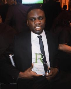Luke Lawal Jr. award at the Root 100 Gala 2016