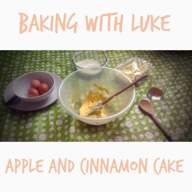 Toddler In The Kitchen Apple and Cinnamon Cake www.lukeosaurusandme.blogspot.co.uk