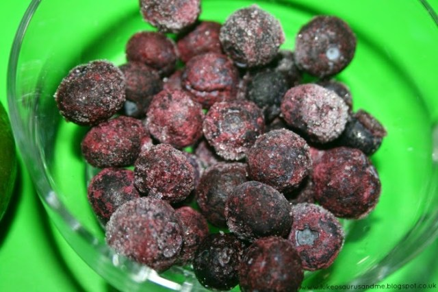 Frozen Blueberries from Toddler In The Kitchen: Smoothies Using Breville's Blend-Active, from lukeosaurusandme.co.uk