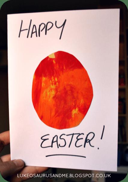 Easter Activities For Toddlers. Easter Egg Card from lukeosaurusandme.co.uk