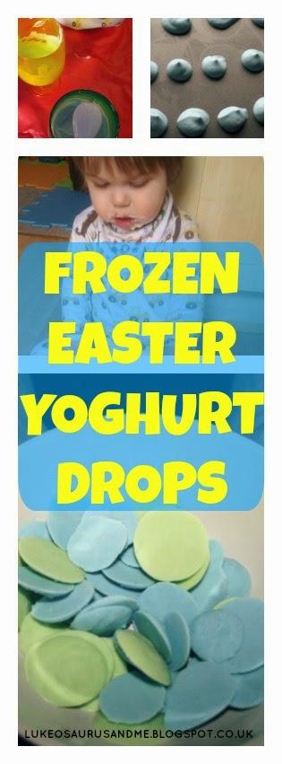 Frozen Yoghurt Drops, healthy food at easter for toddlers from https://lukeosaurusandme.co.uk