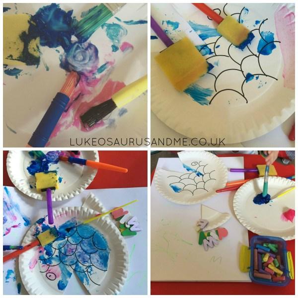 Sparkly Fish Craft using Ppaer Plates from lukeosaurusandme.co.uk