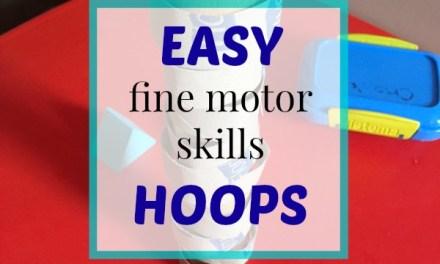 Easy Fine Motor Skills Hoops
