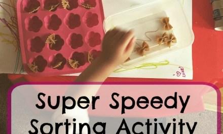 Super Speedy Sorting Activity