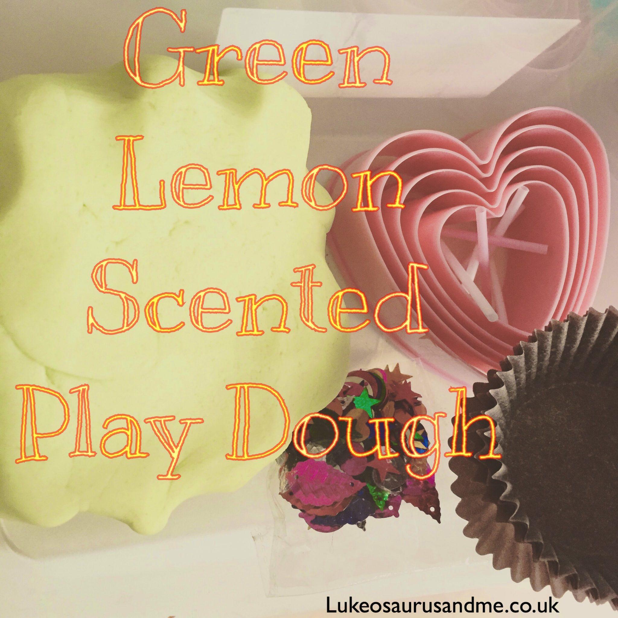 Green Lemon Scented Play Dough made by lukeosaurusandme.co.uk
