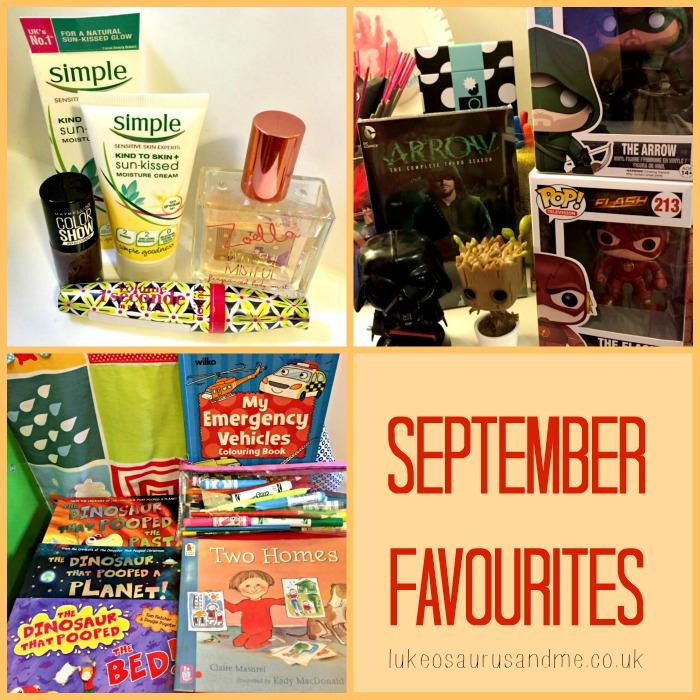 September Favourites, including beauty, toddler books, and pop vinyls by lukeosaurusandme.co.uk