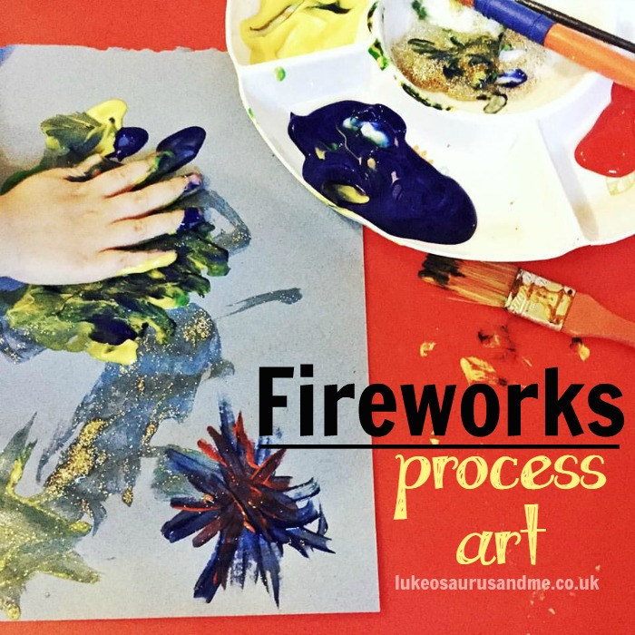 Fireworks Process Art For Toddlers and preschoolers by https://lukeosaurusandme.co.uk @gloryiscalling #processart #pbloggers #kidscrafts #craftsfortoddlers