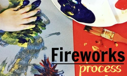 Fireworks Process Art For Toddlers and Preschoolers