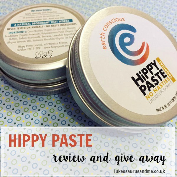 Hippy Paste review & give away at http://lukeosaurusandme.co,uk @gloryiscalling #naturalbeauty #beatyproducts