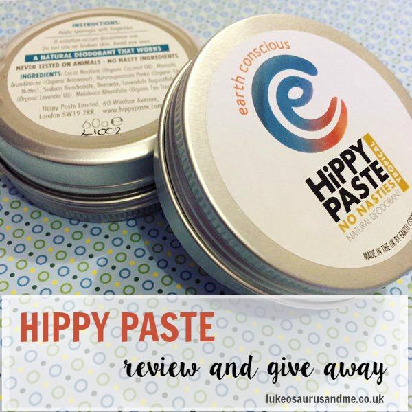 Hippy Paste review & give away at http://lukeosaurusandme.co,uk @gloryiscalling #naturalbeauty #beatyproducts