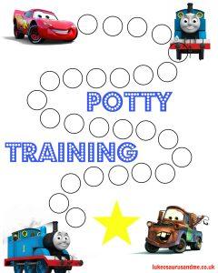 Free printable Thomas and Cars Potty Training Chart https://lukeosaurusandme.co.uk :gloryiscalling